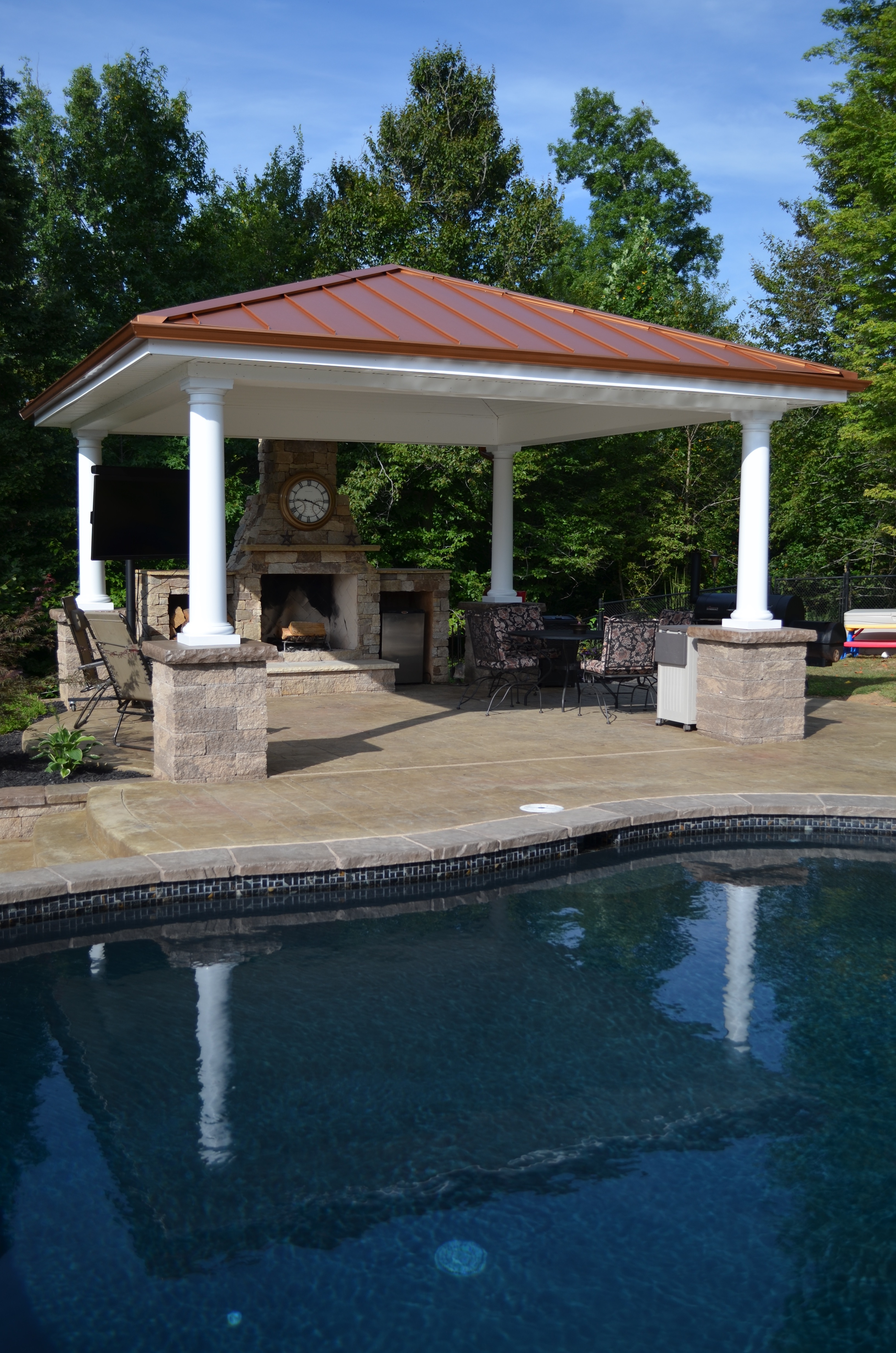 Pool Pavilion Swimming Pool Pavilion And Fire Pit | The Pool Company