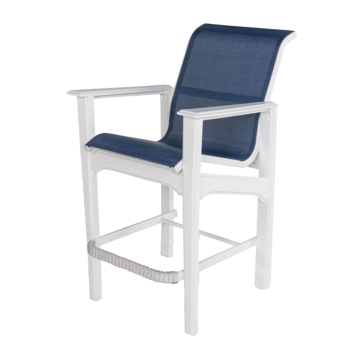 Cape Cod Sling Fabric Bar Chair With Marine Grade Polymer Frame Pool Furniture Supply