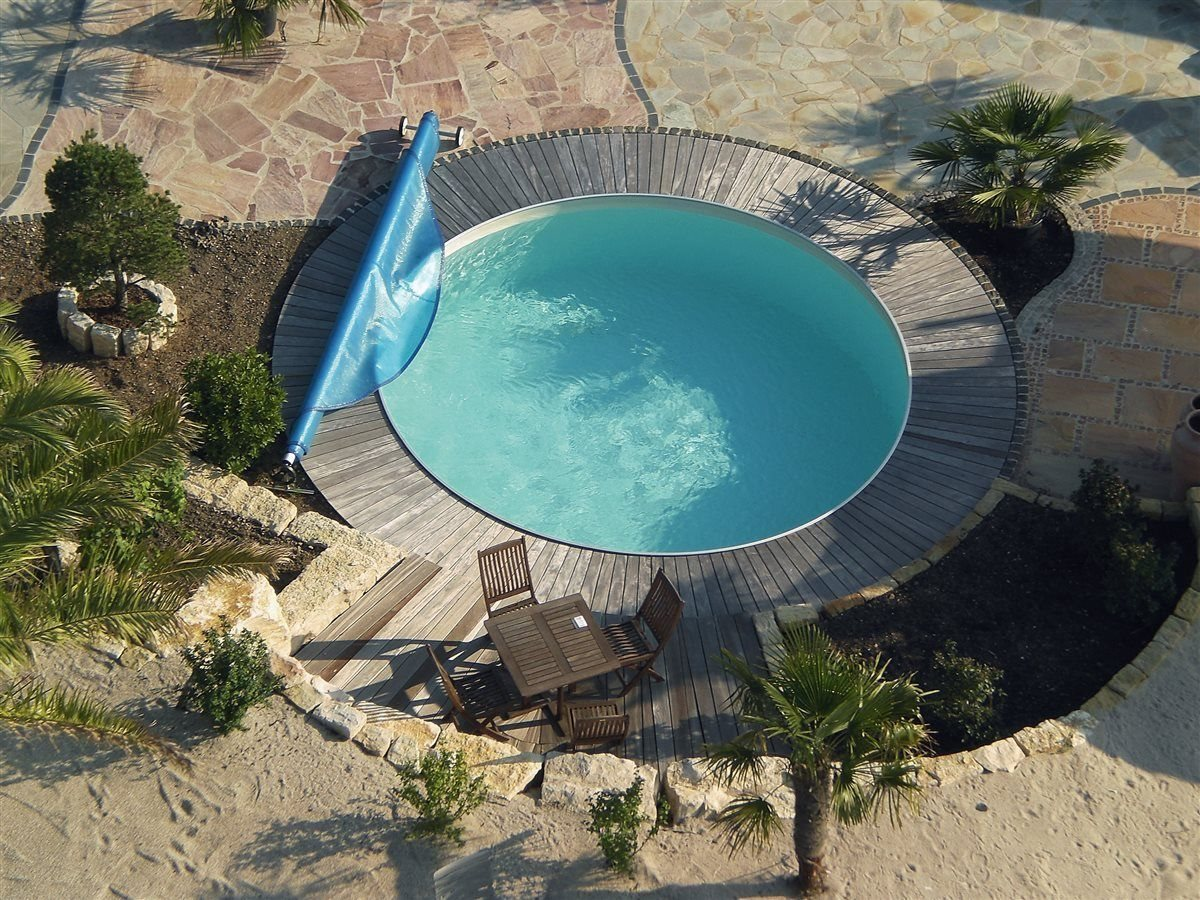 Pool Luftpolsterfolie Rund Pool Set Rund Folie Sand