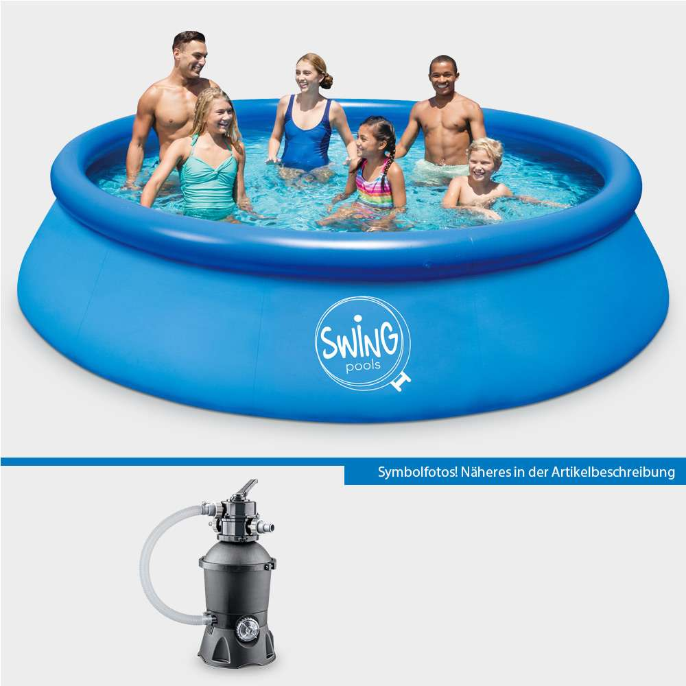 Pool Einwintern Sandfilteranlage Quick Up Pool Set Pronto 244 X 76 Cm Mit Sandfilteranlage Pure Eco