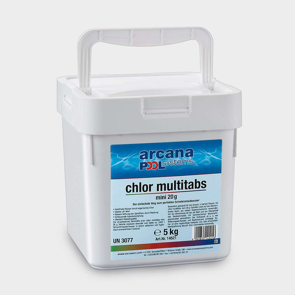 Multitabs Pool Auflösen Arcana Chlor Multitabs Mini 20g 5 Kg