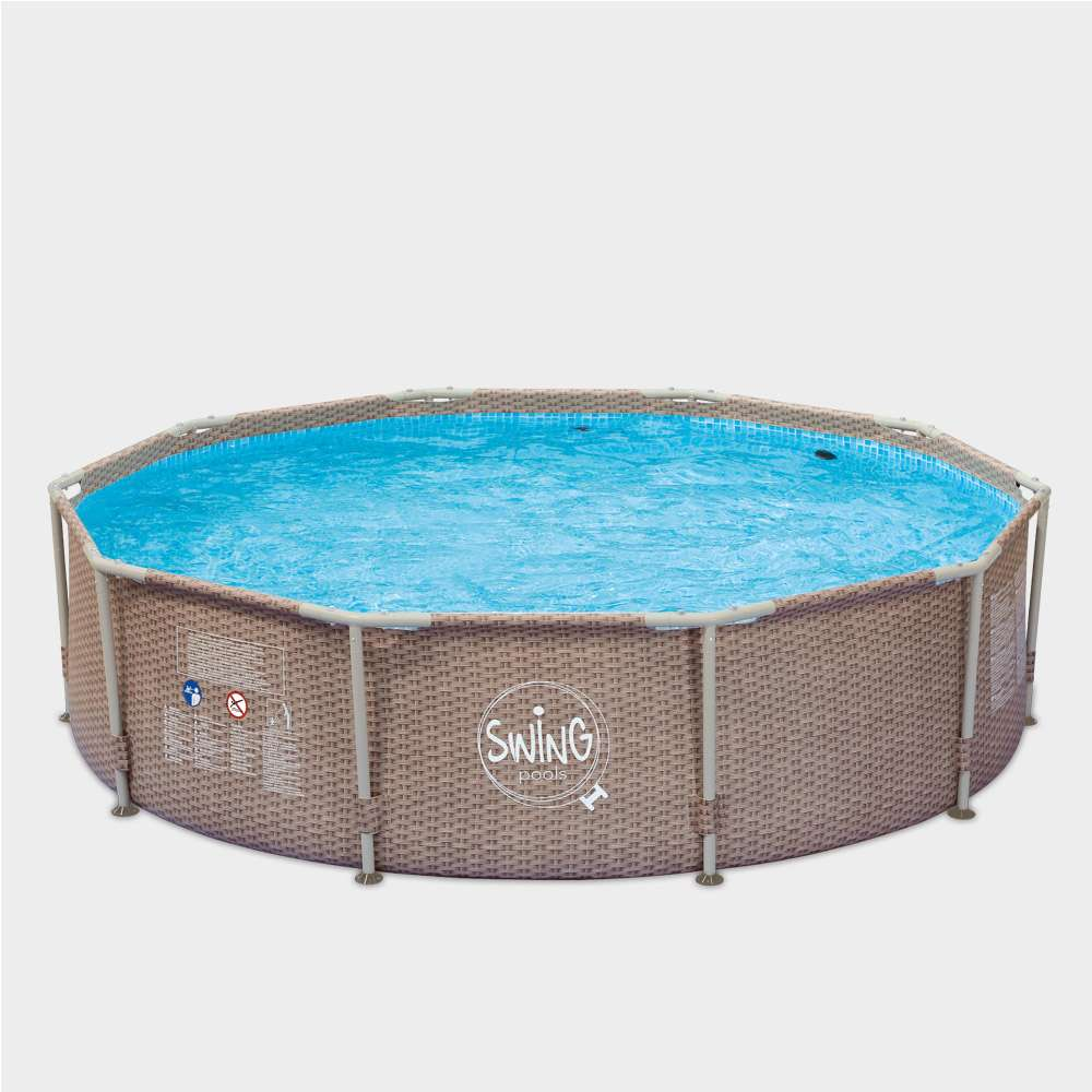 Pool Frame Rund Frame Pool Pole Wicker Rund 305 X 76 Cm