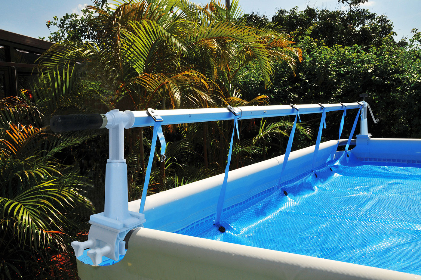 Solarplane Pool Aufrollen Solaris Cover Reel For Soft Side Frame Pools Up To 24