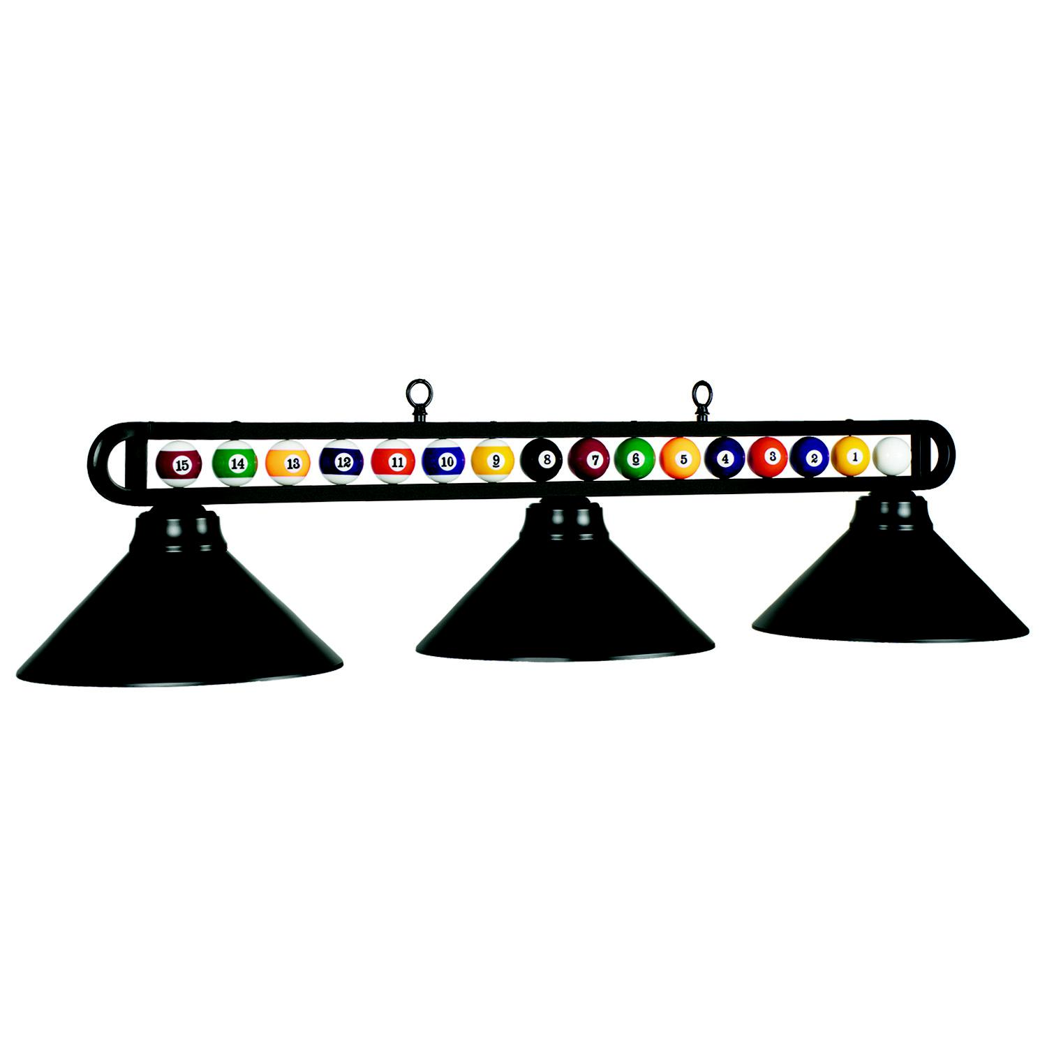 Lampe Billard Billiard Balls Three Light Shade Pooltables