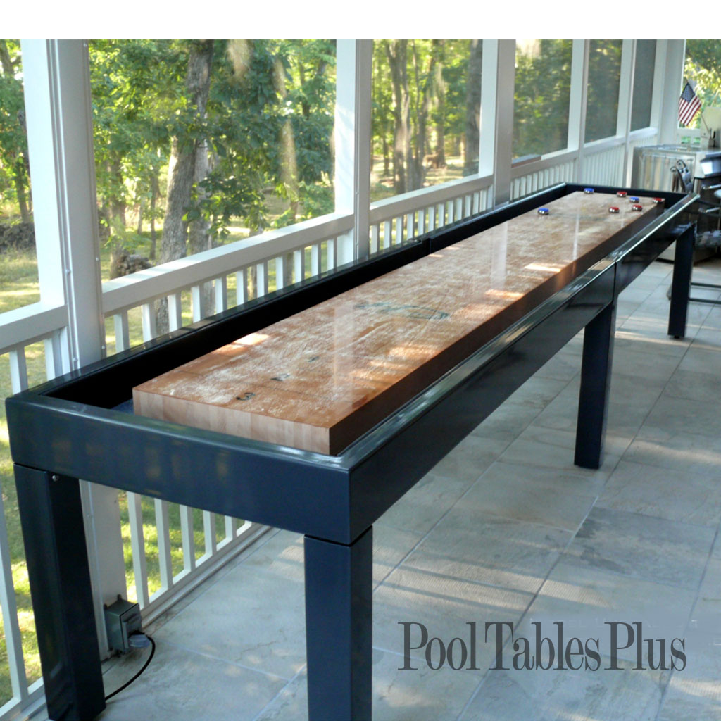 Diy Pool Table Dining Top Outdoor Shuffleboard Table