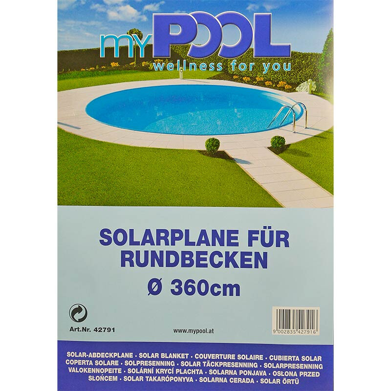 Solarplane Pool Auflegen Solarplane 180µm Für Rundbecken Ø 3,60 M | Pool Total, 32,90