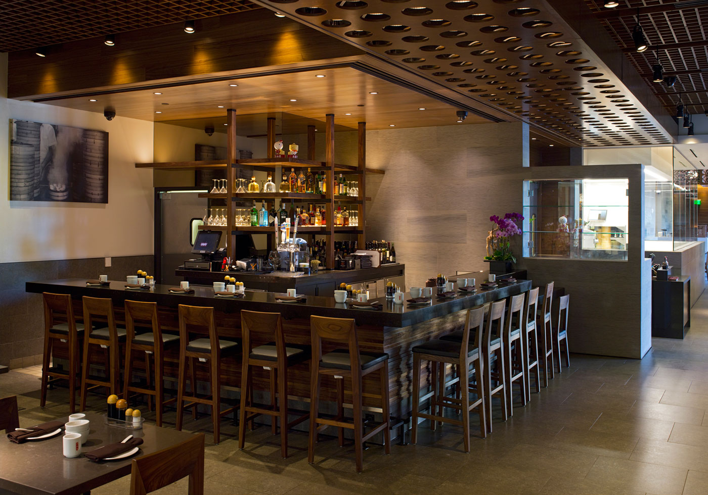 Brass Bar Stools Din Tai Fung : Poon Design Inc.