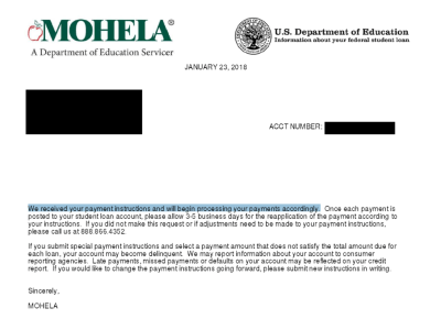 Free Letter Template to Pay the Principal on MOHELA Student Loans