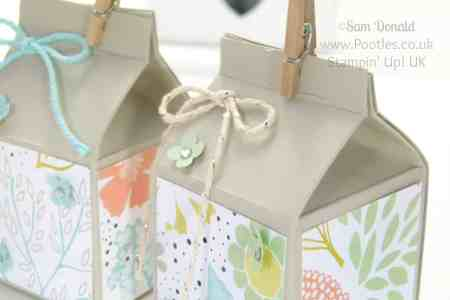 Milk Carton Box Stampin Up
