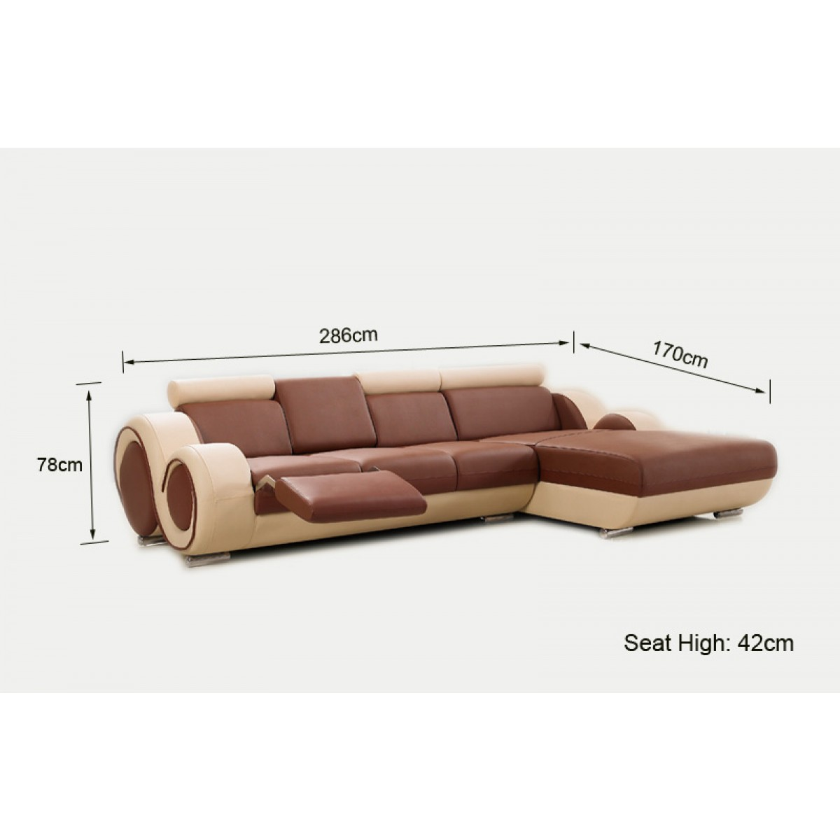 Canape Angle Relax Cuir Canapé D 39angle Relax En Cuir 5 Places Roll