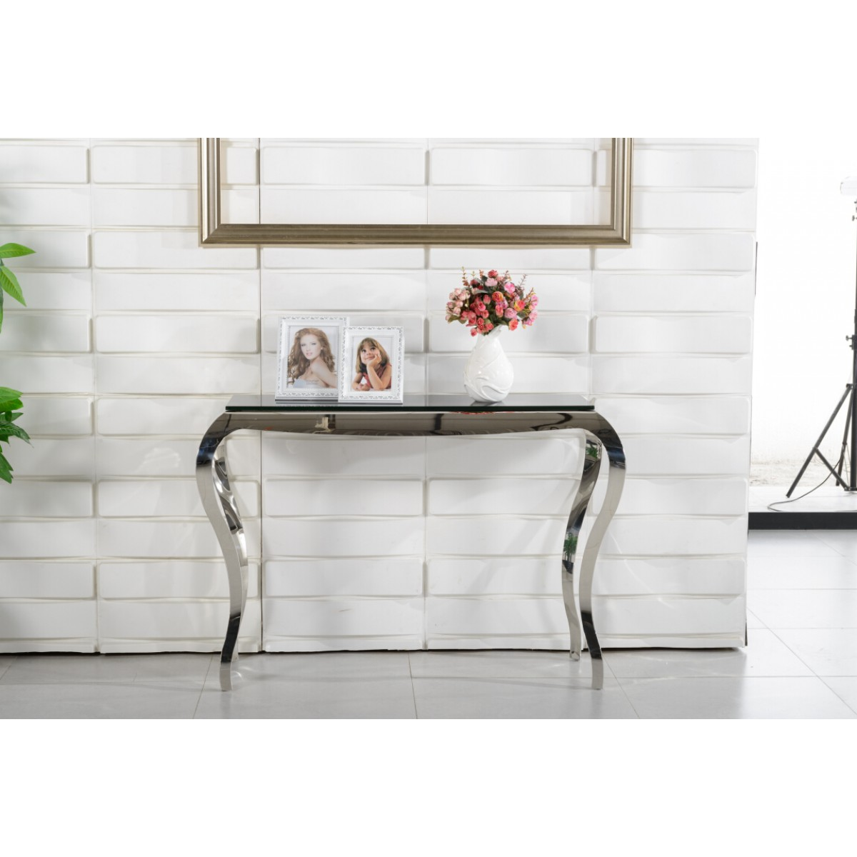 Sellette Design Verre Table Console En Verre