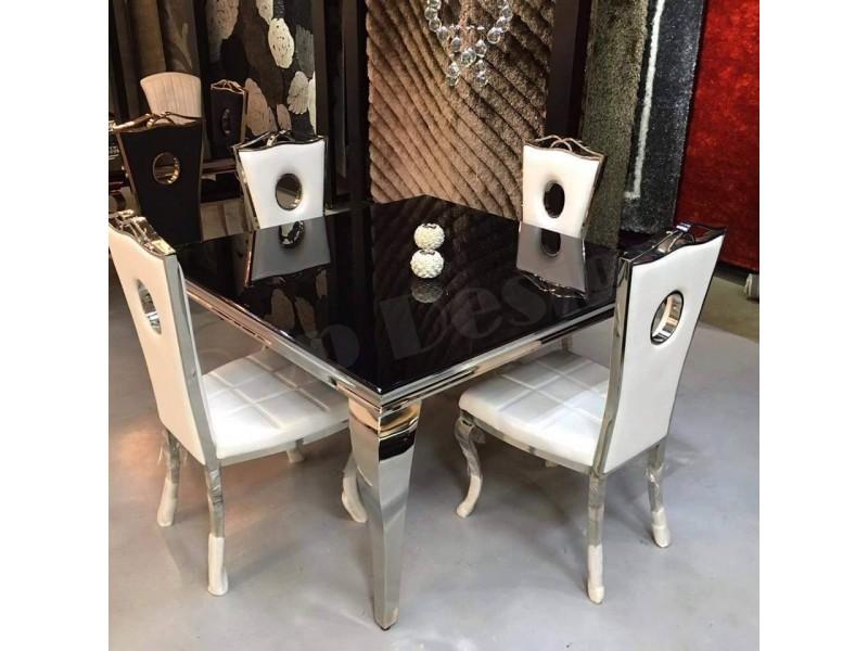 Table de salle à manger baroque Duchesse carrée - Tables de salle à