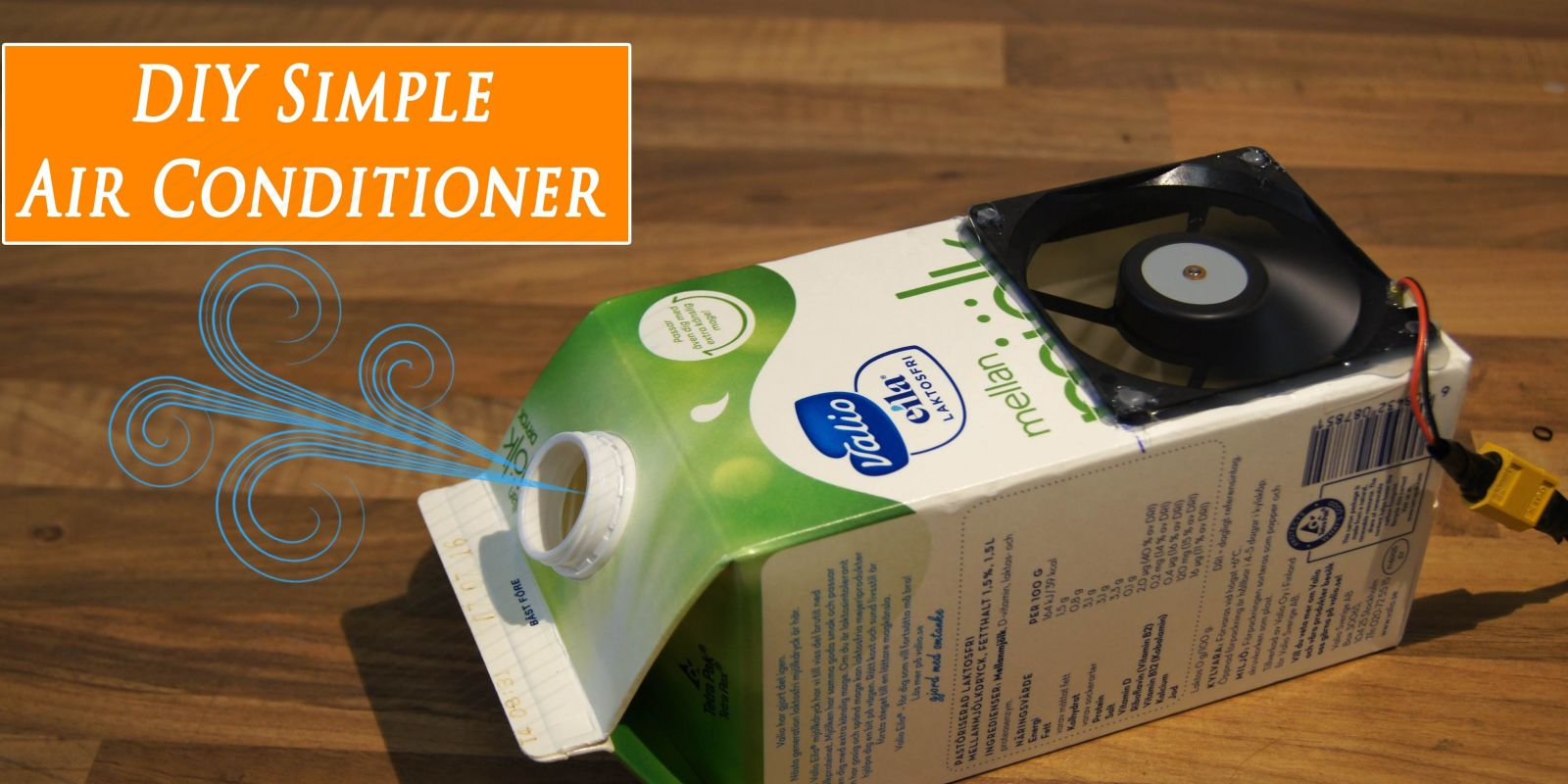 Diy Air Conditioner No Electricity How To Make A Dead Simple Air Conditioner Out Of A Milk Carton