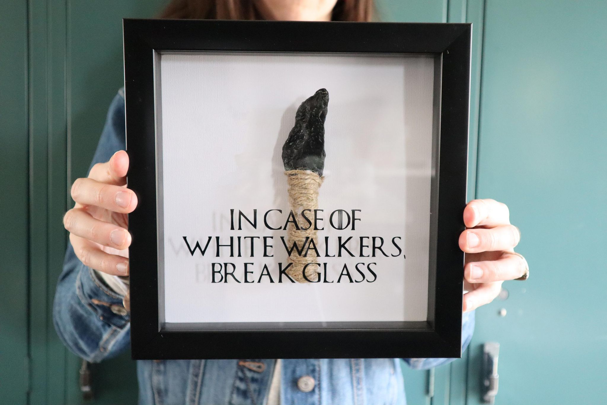 Diy Picture Frame Glass Diy In Case Of White Walkers Break Glass Sign Popcorner Reviews