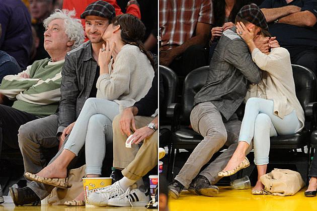 Justin Timberlake Jessica Biel Kissing