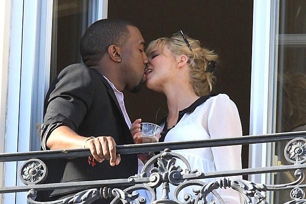Kanye West Kate Upton Kissing