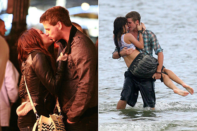 Miley Cyrus Liam Hemsworth Kissing