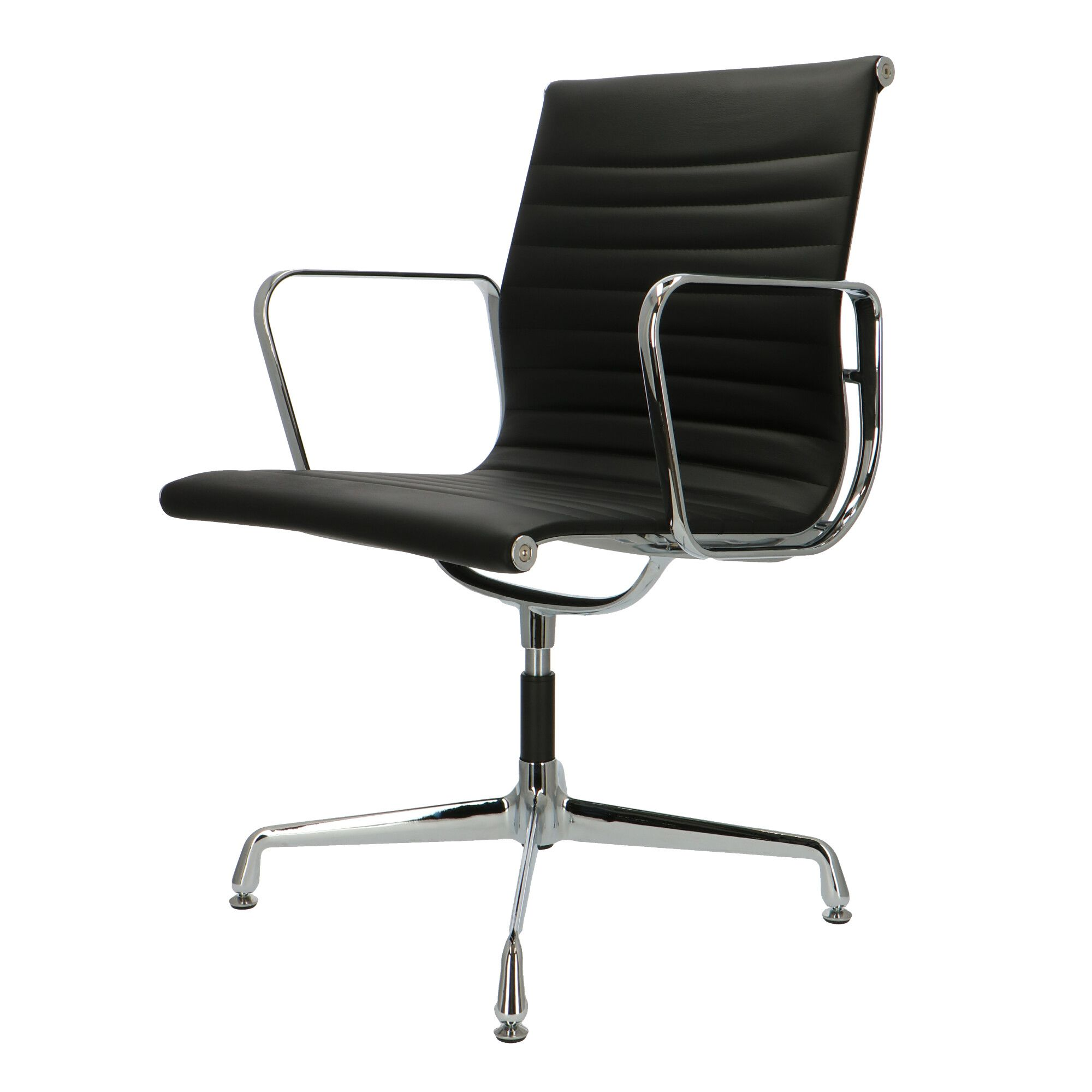 Eames 108 Eames Office Chair Ea 108 Black Leather Popfurniture