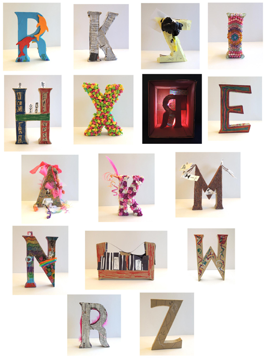 Letter Art Pop Goes the Page