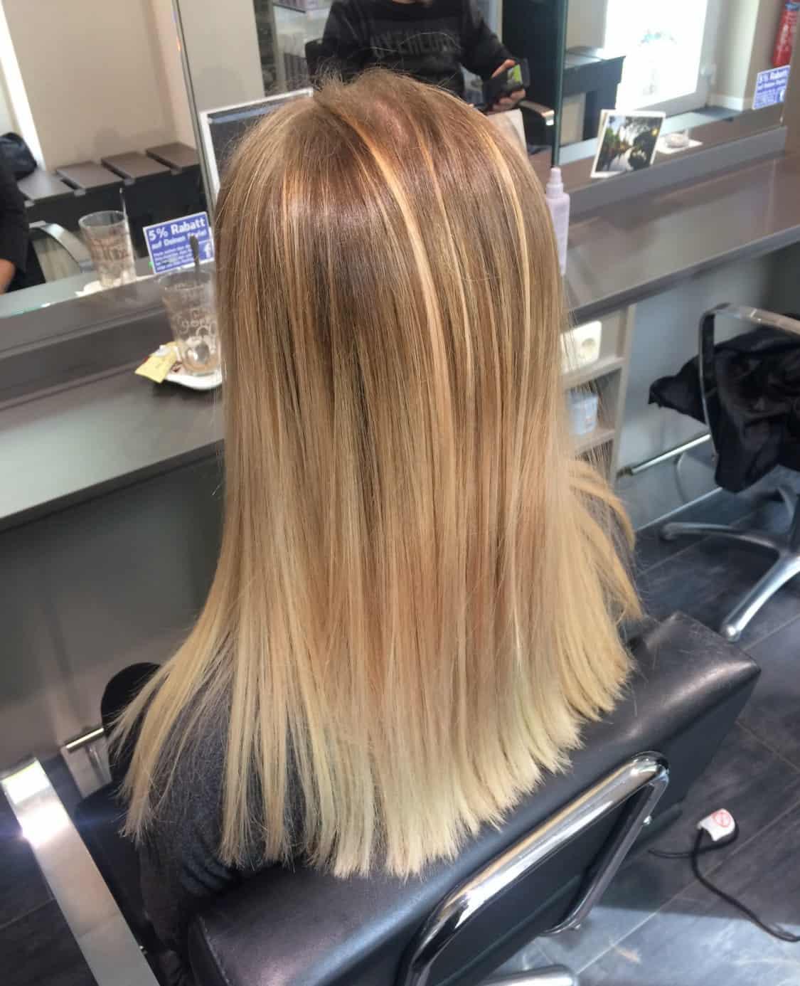 Balayage Grau Friseur Blonde Haare Verdunkeln Moderne Mannliche