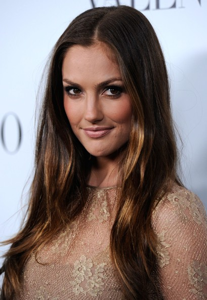 Hairstyles For Curly Hair For Prom Minka Kelly Ombre Straight Hair Popular Haircuts