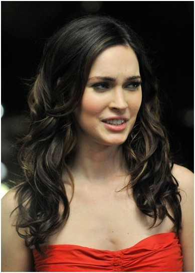 Brown Hair With Highlights Curly Hairstyle For Long Hair Megan Fox Haircut Popular