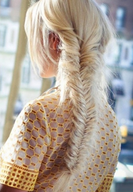 Hair Ombre Long Blonde Fishtail Braid Popular Haircuts