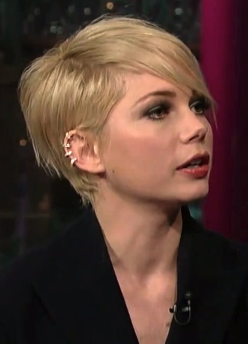 Long Bob Haircuts With Bangs 2014 Michelle Williams Short Hair Styles Pixie Haircut