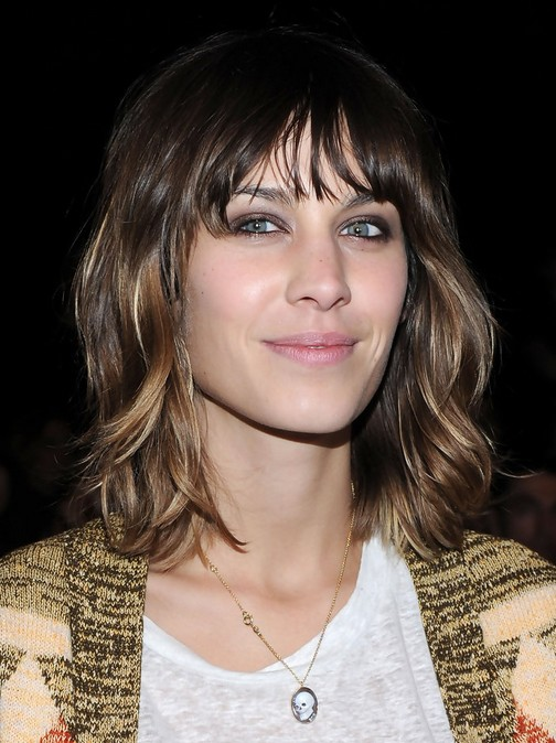 Long Bob Haircuts With Bangs Alexa Chung Hair Cuts Layered Neck Length Hairstyle