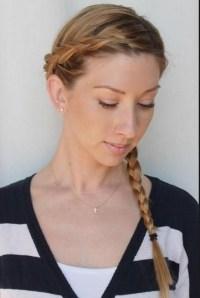 Cute Wrap Around Side Braided Hairstyle Tutorials ...