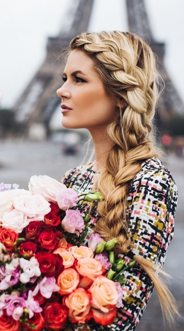 Hairstyles For Hair Plaited Pretty Side Braid Hairstyles Popular Haircuts