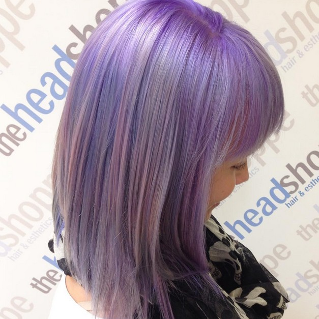 Dark Brown Balayage Long Bob Gorgeous Pastel Purple Hairstyle Ideas Balayage Hair