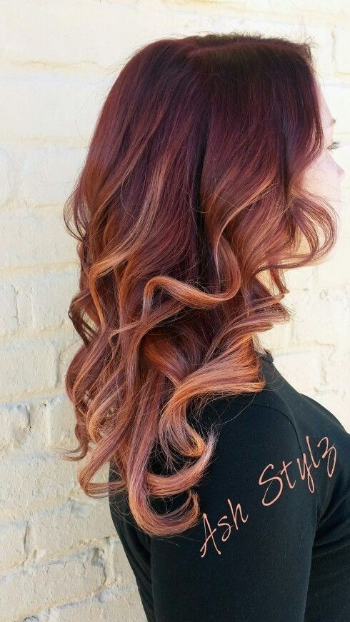 Balayage Ombre With Base Color 10 Mahogany Hair Color Ideas Ombre Balayage Hairstyles 2020