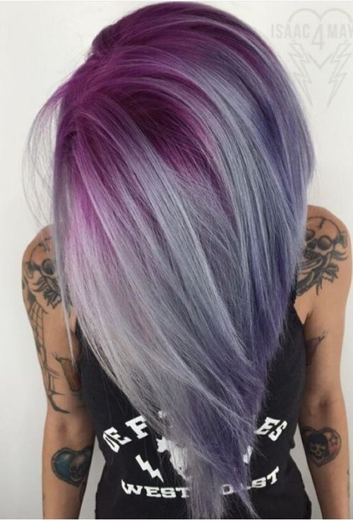 10 pretty pastel hair color ideas with blonde silver purple and ombre balayage hairstyles with straight hair hot pink amethyst purple and silver pmusecretfo Image collections