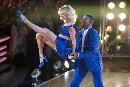 "DANCING WITH THE STARS - ""Episode 2305"" - The nine remaining celebrities will set out to leave a lasting impression with their dances as they commemorate their most memorable year, on ""Dancing with the Stars,"" live, MONDAY, OCTOBER 10 (8:00-10:01 p.m. EDT), on the ABC Television Network. (ABC/Eric McCandless) LINDSAY ARNOLD, CALVIN JOHNSON JR."