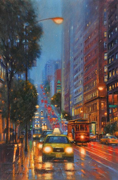 Night Lights SF, 36x24