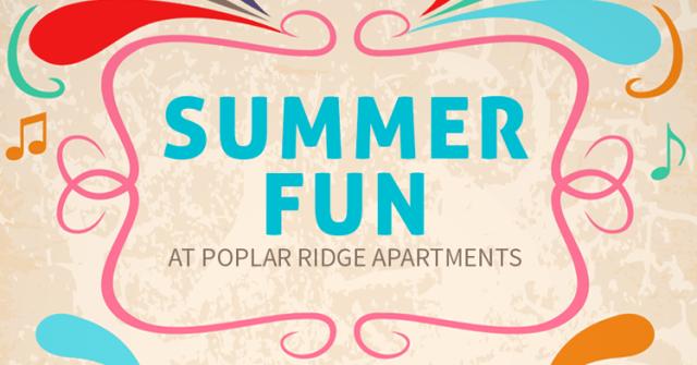 summer fun Apartment resident activities