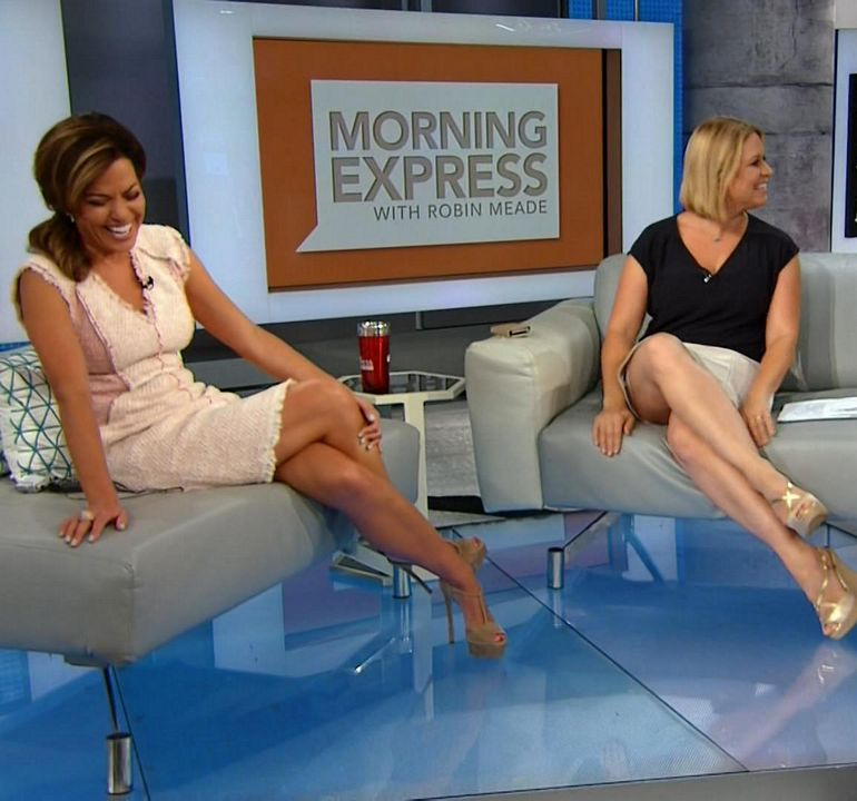 robin meade cleavage