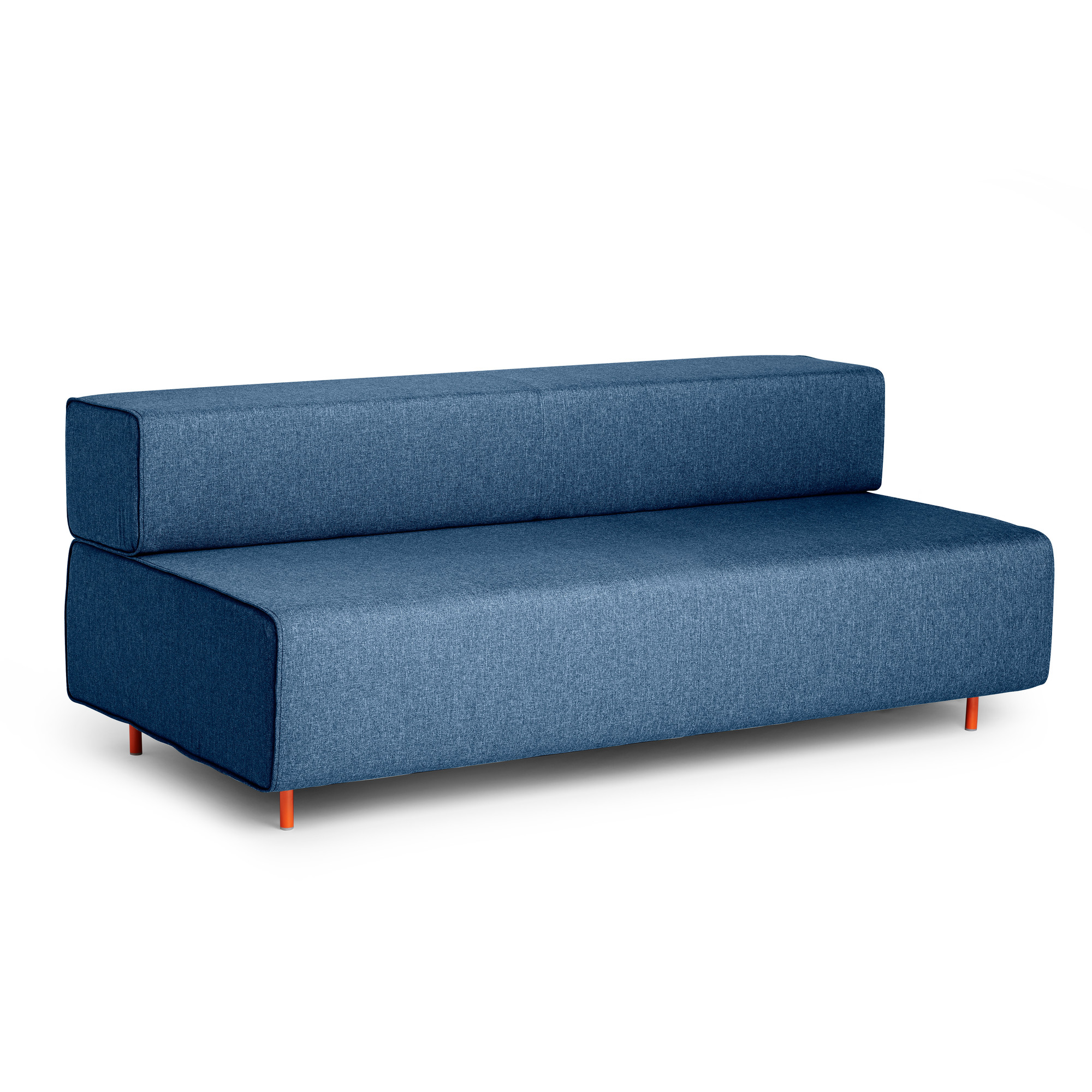 Grey Sofa In Lounge Dark Blue Block Party Lounge Sofa Lounge Seating Poppin