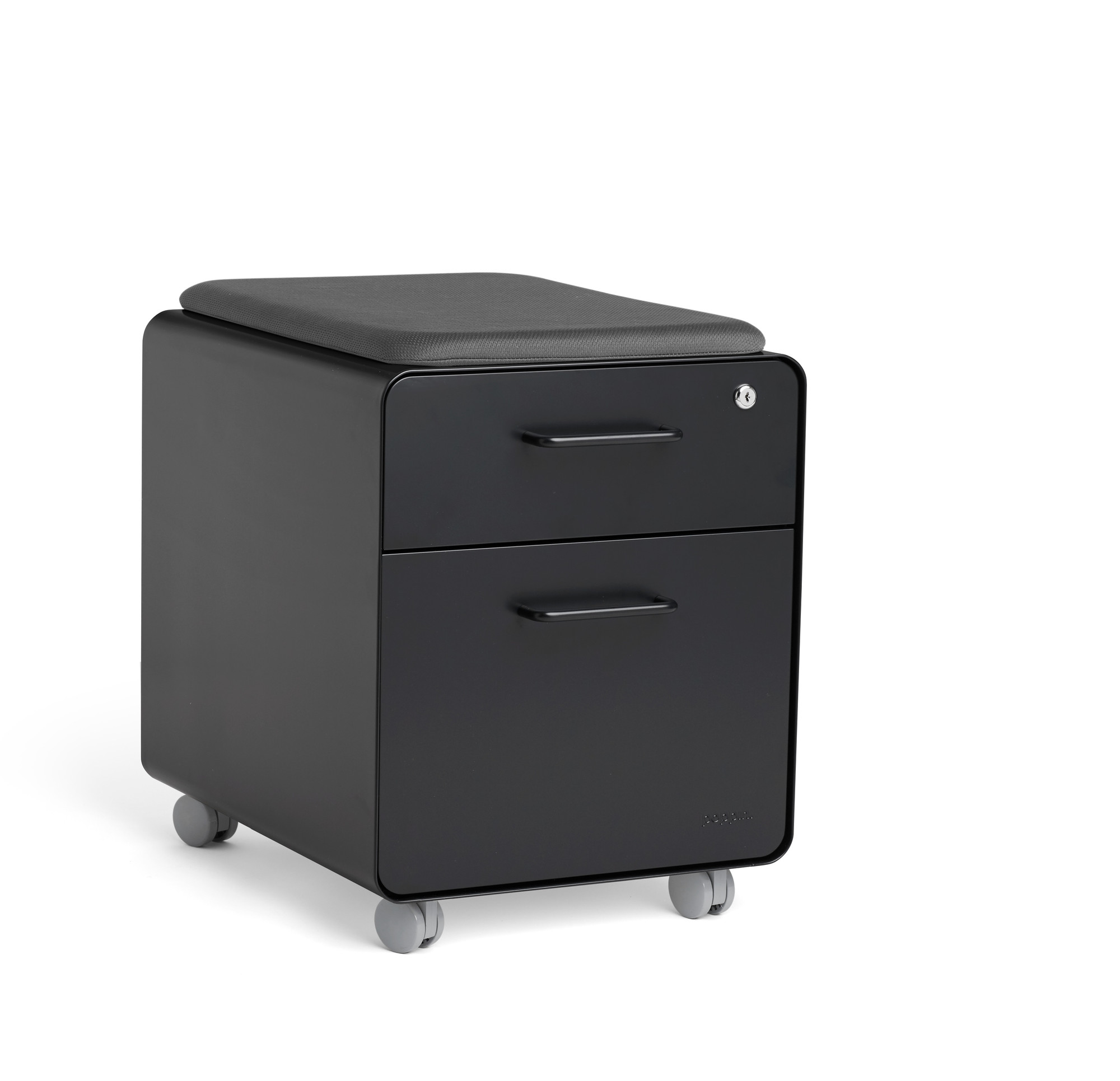 Rolling Filing Cabinets Black Mini Stow 2 Drawer File Cabinet Rolling 2 Drawer File Cabinets Poppin