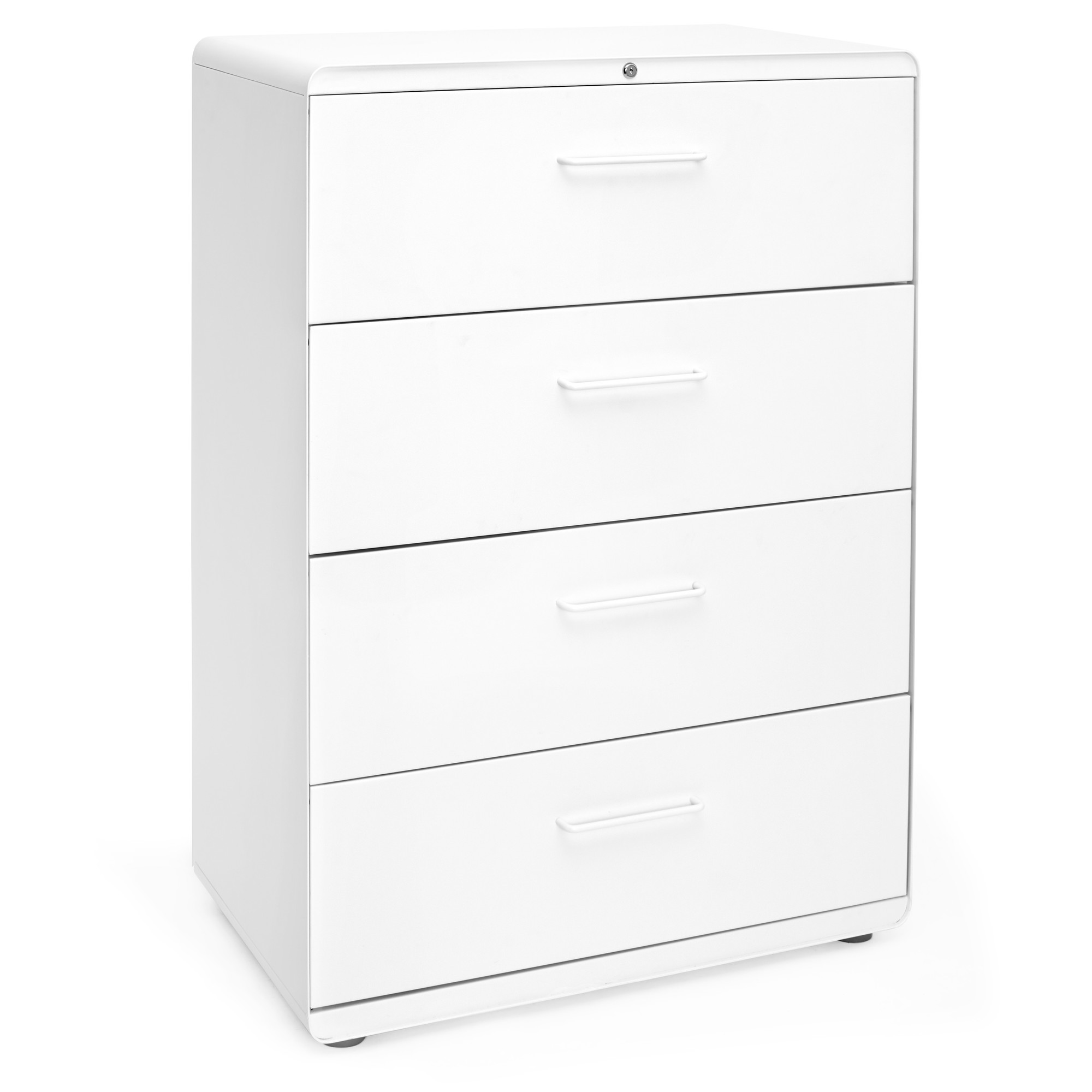 Cabinet Drawers White Stow 4 Drawer Lateral File Cabinet File Cabinets And Storage Poppin