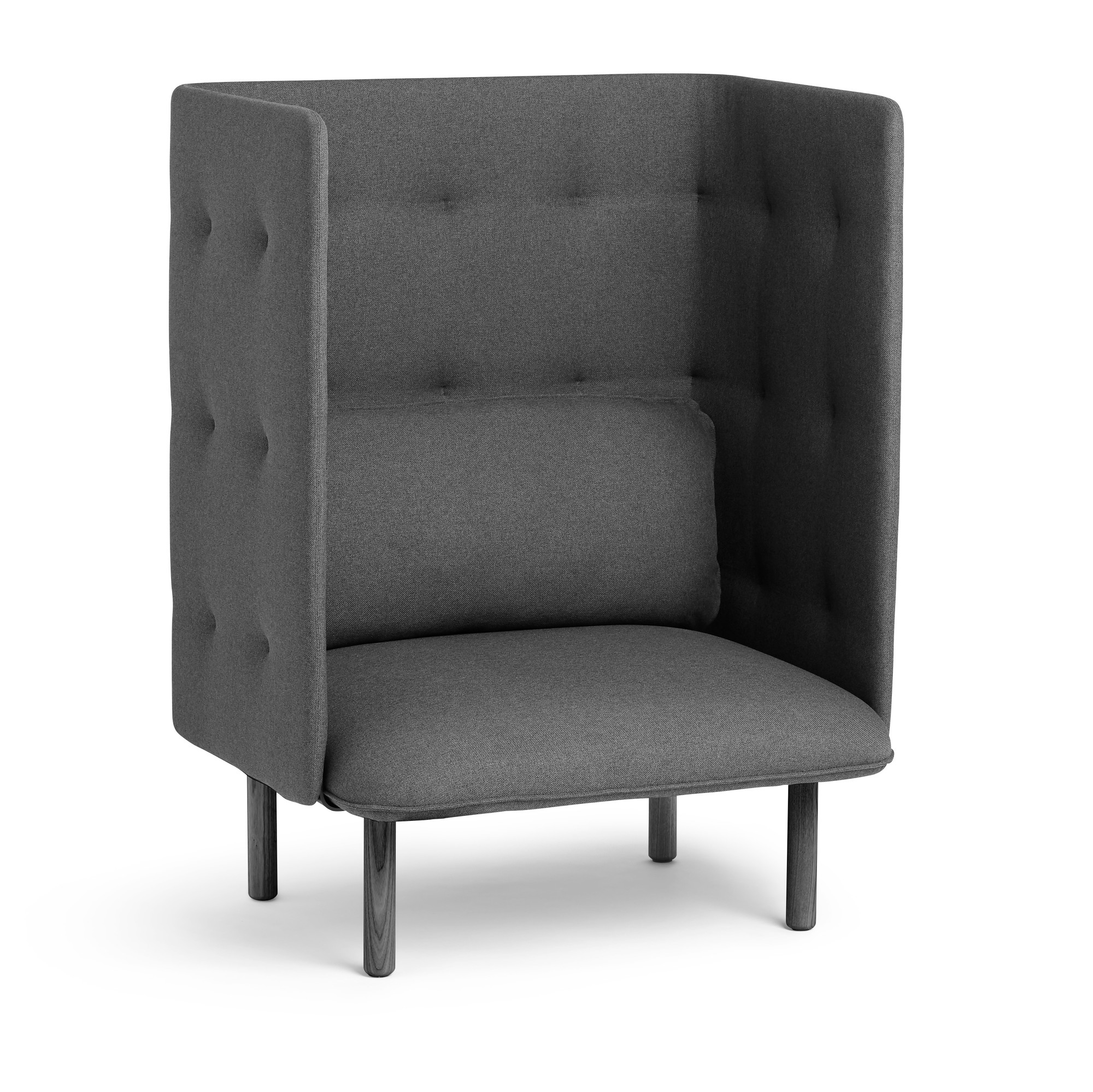 Lounge Chair Dark Gray Qt Privacy Lounge Chair Privacy Lounge Seating Poppin