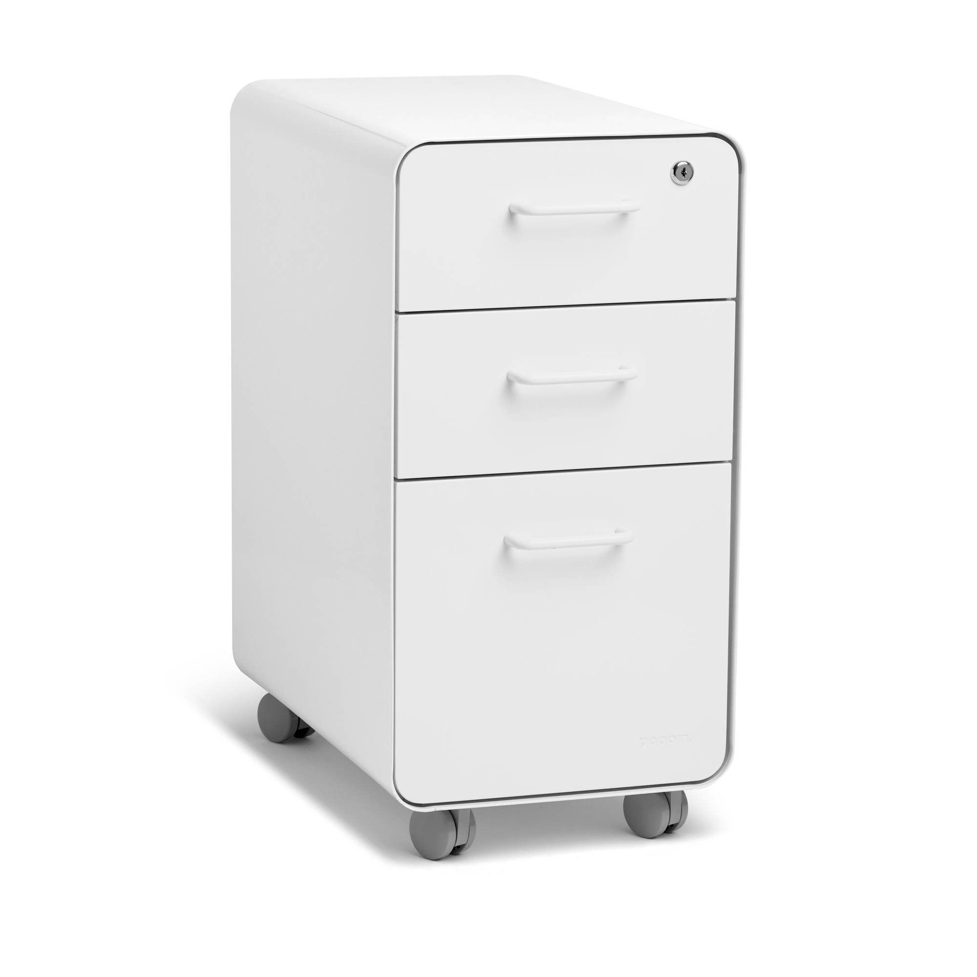 Rolling Filing Cabinets White Slim Stow 3 Drawer File Cabinet Rolling Rolling File Cabinets Poppin