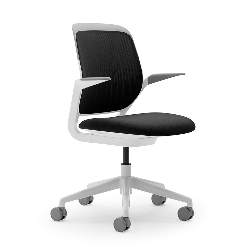 Grey Desk Chair Black Cobi Desk Chair With White Frame Modern Office Furniture Poppin