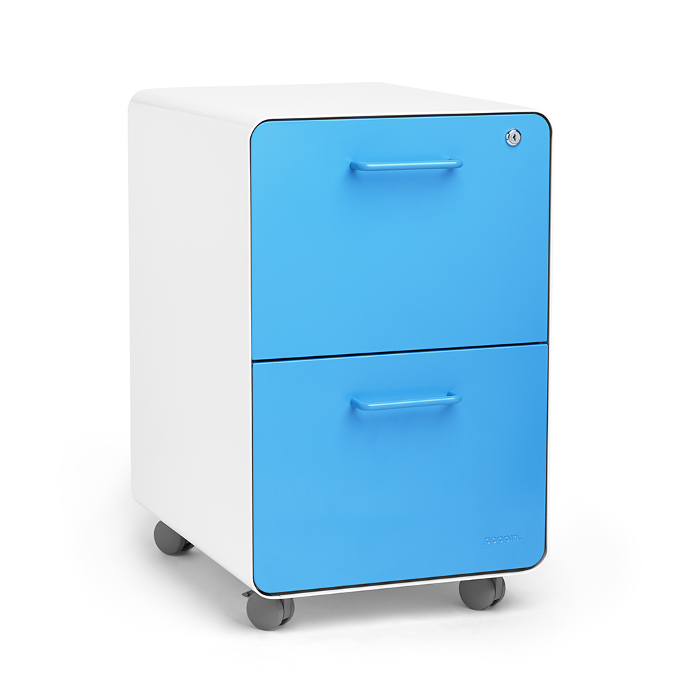 Rolling Filing Cabinets White Pool Blue Stow 2 Drawer File Cabinet Rolling Poppin