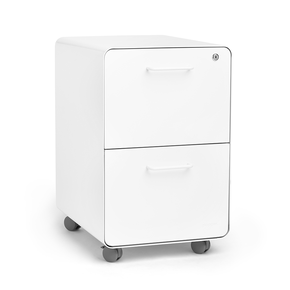 Small Filing Cabinet White Stow 2 Drawer File Cabinet Rolling Poppin