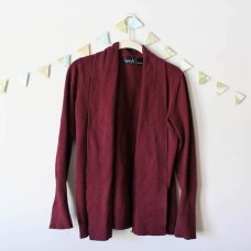 Burgundy Sweater in a winter capsule wardrobe for Project 333