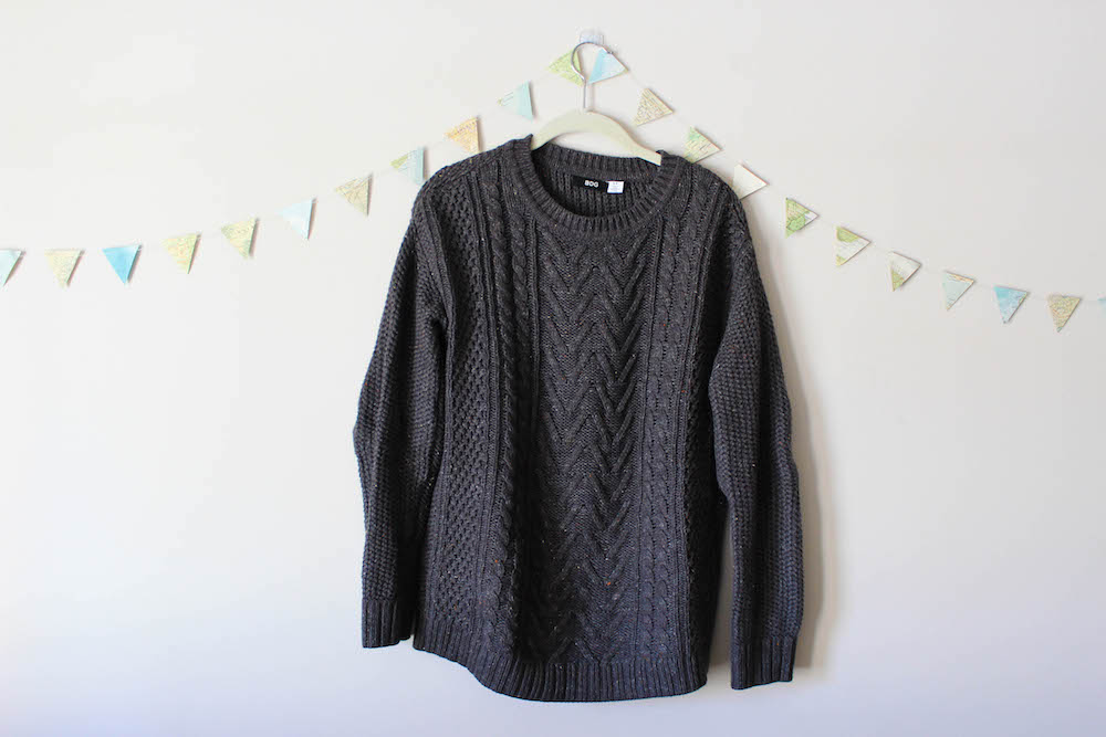 BDG Urban Outfitters Gray Pullover Sweater in a winter capsule wardrobe for Project 333