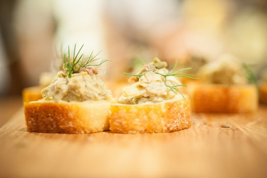 Marinated artichoke salad with capers, Arroyabe Spanish anchovies & dill (Photo Credit: Erwin – Shade Photography)