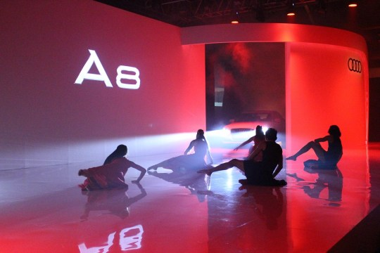 Launching a car with an interpretive dance: that's the art of progress for you.
